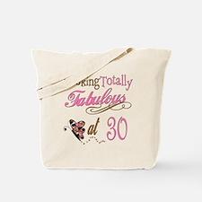 Fabulous 30th Tote Bag