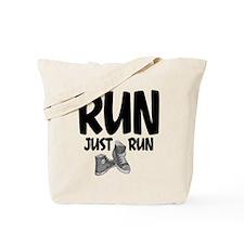 Run Just Run Tote Bag