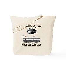 Beardie Agility-Hair in the Air Tote Bag