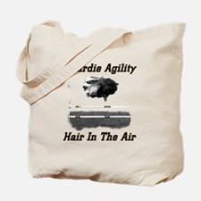 Beardie Agility-Hair in the Air Tote Bag