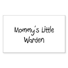 Mommy's Little Warden Rectangle Decal