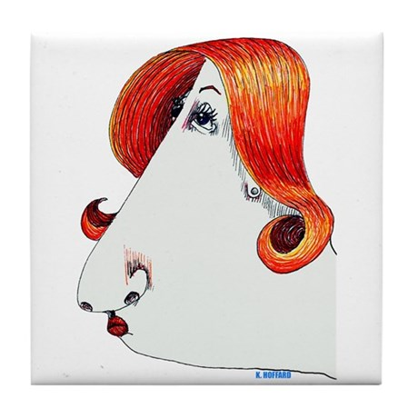 Miss Thing Tile Coaster