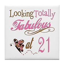 Fabulous 21st Tile Coaster