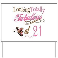 Fabulous 21st Yard Sign