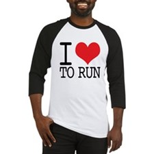 I Love To Run Baseball Jersey