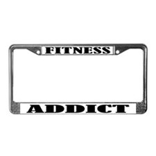 Fitness Addict License Plate Frame