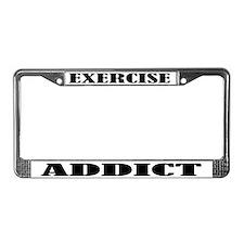 Exercise Addict License Plate Frame