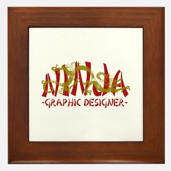 Dragon Ninja Graphic Designer Framed Tile