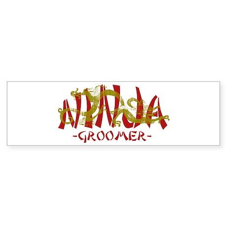 Dragon Ninja Groomer Bumper Sticker