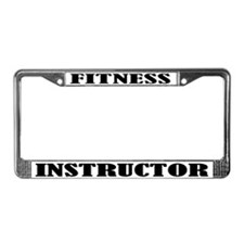 Fitness Instructor License Plate Frame