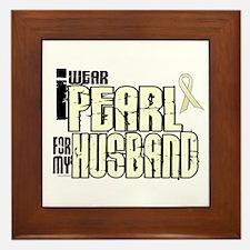 I Wear Pearl For My Husband 6 Framed Tile