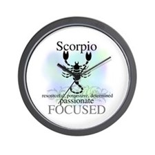 Scorpio the Scorpion Wall Clock