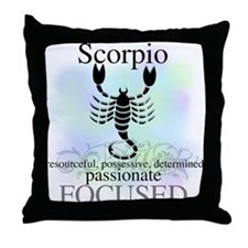 Scorpio the Scorpion Throw Pillow