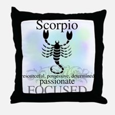 Scorpio the Scorpion Throw Pillow