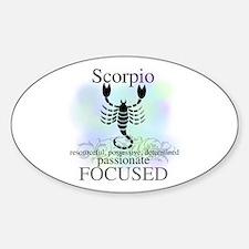 Scorpio the Scorpion Oval Decal