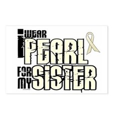 I Wear Pearl For My Sister 6 Postcards (Package of