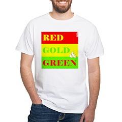 Shirt red gold green