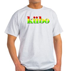 T-Shirt kubo red gold green font