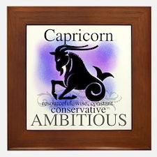 Capricorn the Goat Framed Tile