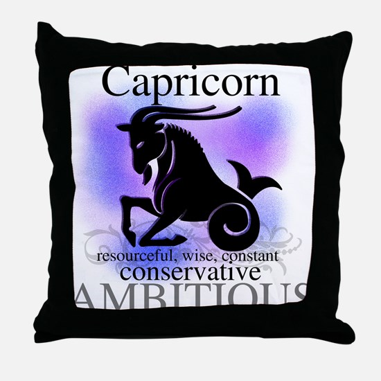 Capricorn the Goat Throw Pillow