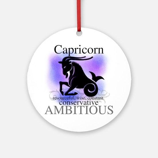 Capricorn the Goat Ornament (Round)
