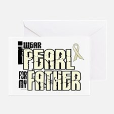 I Wear Pearl For My Father 6 Greeting Card