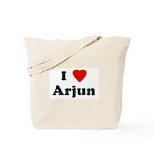 I Love Arjun Tote Bag