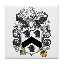 Hall Family Crest Tile Coaster