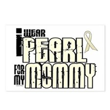 I Wear Pearl For My Mommy 6 Postcards (Package of