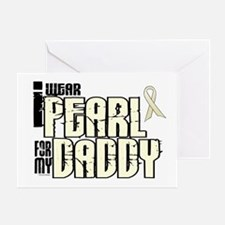 I Wear Pearl For My Daddy 6 Greeting Card
