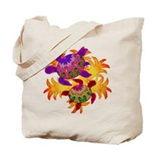 Flaming Turtles Tote Bag