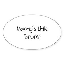 Mommy's Little Torturer Oval Decal