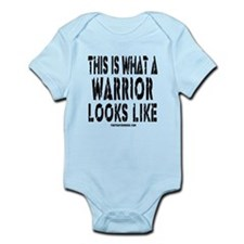 THIS IS WHAT A WARRIOR LOOKS Infant Bodysuit