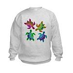 Multi Painted Turtles Kids Sweatshirt