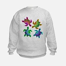 Multi Painted Turtles Sweatshirt