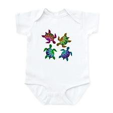 Multi Painted Turtles Infant Bodysuit