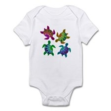 Multi Painted Turtles Onesie