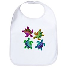Multi Painted Turtles Bib