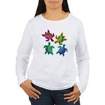 Multi Painted Turtles Women's Long Sleeve T-Shirt
