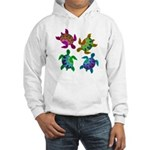 Multi Painted Turtles Hooded Sweatshirt