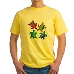 Multi Painted Turtles Yellow T-Shirt