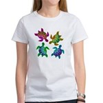 Multi Painted Turtles Women's T-Shirt