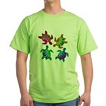 Multi Painted Turtles Green T-Shirt