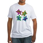 Multi Painted Turtles Fitted T-Shirt
