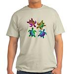 Multi Painted Turtles Light T-Shirt
