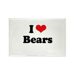 I love bears Rectangle Magnet (100 pack)