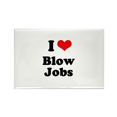 I love blow jobs Rectangle Magnet (100 pack)