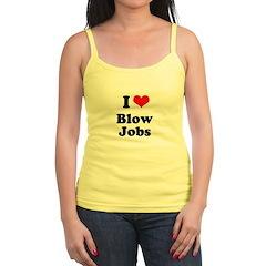 I love blow jobs Jr. Spaghetti Tank