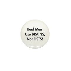 Brains not Fists! (RAINN) Mini Button (10 pack)