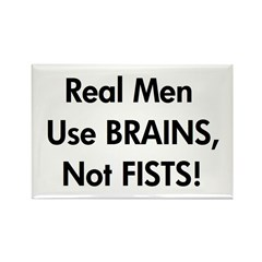 Brains not Fists! (RAINN) Rectangle Magnet
